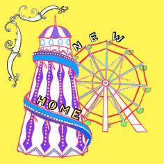 New home - Helter skelter, my illustration