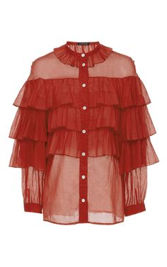 Genevieve Ruffle Tier Blouse by JILL STUART for Preorder on Moda Operandi
