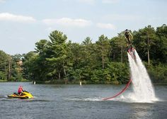 FlyBoarding at the Tommy Bartlett Show Unique Vacations, Wisconsin, Gallery, Outdoor Decor, Travel, Viajes, Trips, Tourism, Traveling