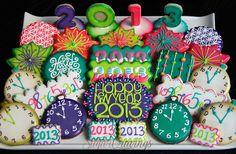 NYE 2013 cookies by Sugar Cravings