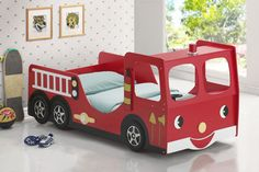 Kids Fire truck twin size bed - modern - kids beds - los angeles - Sister Furniture