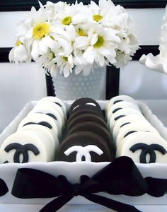 Coco Chanel chocolate covered Oreos!