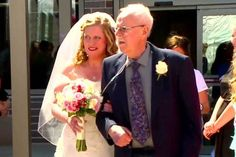 WATCH: Dying father tearfully walks his daughter down the aisle Global News, Walking Down The Aisle, Lets Celebrate, Dads, Daughter, Celebrities, Fathers, Youtube, Watch