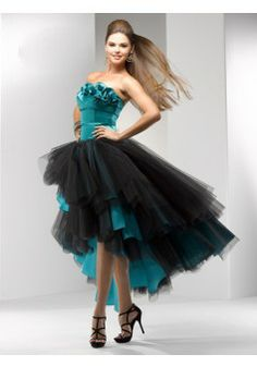 A-line Strapless Sleeveless Tulle Hi Low Prom Dresses #VJ726 - See more at: http://www.beckydress.com/prom-dresses.html?p=3#sthash.8PwStjw7.dpuf