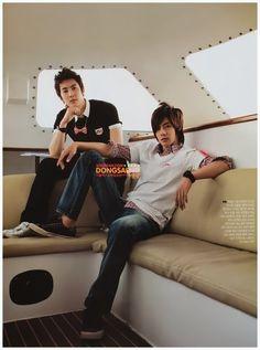 Hyun Joong and Hyung Jun ♡ SS501 ♡ Kpop ♡ Kdrama ♡ long hair ♡ #KimHyunJoong #KimHyungJun