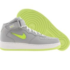 Nike Air Force 1 Mid 07 - Jewel NYC (wolf grey / volt) 315123-070 - $94.99