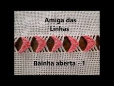 Amiga das Linhas 1 - Bainha aberta - Asa Delta - YouTube Hand Embroidery Dress, Hand Embroidery Videos, Hand Embroidery Tutorial, Hardanger Embroidery, Hand Embroidery Patterns, Hem Stitch, Tatting Jewelry, Drawn Thread, Creative Embroidery