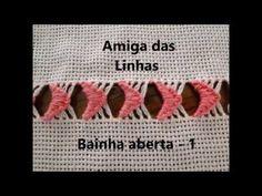 Tathinha Bordados #27 - BAINHA ABERTA / VÁRIOS PONTOS - BORDADO - YouTube