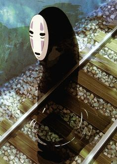 No-Face in Spirited Away / Chihiro no kamikakushi (2001) by Studio Ghibli Great Movie!