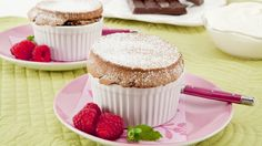 Chocolate Souffle Cakes - Recipes - Best Recipes Ever - Souffles sound complicated by these chocolate souffle cakes are simple to make for any occasion. These cakes rise while baking but fall when cooling, creating a soft silky interior. The best part is that you can make them ahead to reheat and puff in the microwave before serving. Serve with Sherry Cream, if desired.
