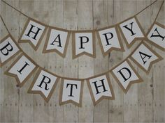 Items similar to Happy Birthday banner. burlap and fabric pennant banner, natural burlap with white fabric overlay and black fabric letters. Swallow shape on Etsy Pennant Banner Template, Birthday Banner Template, Birthday Bunting, Diy Banner, Pennant Banners, Flag Template, Banner Shapes, Birthday Letters, Banner Ideas