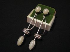 BIG Antique Modernist Sterling Silver and White by ditbge on Etsy, $72.00