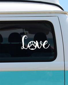 Pet Love Vinyl Window Decal - Car Sticker - Paw Print - Love by BrokeGirlGraphics on Etsy