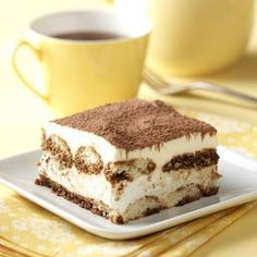 "Tiramisu Recipes - The Italian word ""tiramisu"" translates to ""pick me up"" which describes how you'll feel after trying some of these popular desserts. Find tiramisu recipes as well as tiramisu trifles, tiramisu brownies, tiramisu cheesecake and more."