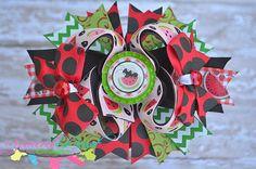 Summer Ant on the Watermelon Bow  Bow by spoiledbratdesignz, $10.00