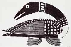 Surprised Loon (2008) by Kenojuak Ashevak, Inuit artist (G110802)