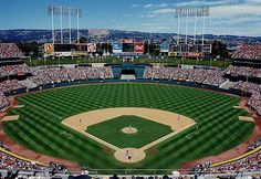 This was the second MLB game I went to, either '92 or '93. The stadium has since been renovated and the Oakland Hills in the background are now blocked. Rickey Henderson stole second at least once in that game.