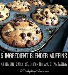 5 Ingredient Blender Muffins recipe tastes so good and it is grain free  dairy free  gluten free and clean eating making it the perfect choice for breakfast or an afternoon snack!