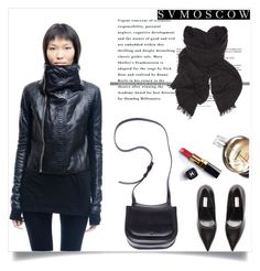 """SVMoscow 1"" by mell-2405 ❤ liked on Polyvore featuring Hun Rick Owens, Balenciaga, The Row, Chanel, Rick Owens and svmoscow"