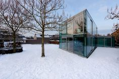 Glass and Concrete H House by Wiel Arets Architects - CAANdesign