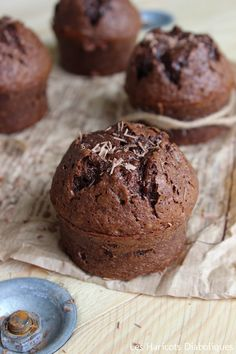 03 Chocolate Muffins, Chocolate Desserts, Breakfast Muffins, Afternoon Snacks, Christmas Desserts, Recipe Collection, Food Photo, Granola, Food Inspiration