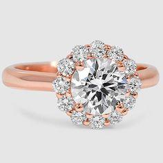 14K Rose Gold Lotus Flower Diamond Ring (1/3 ct. tw.)   I LOVE THIS