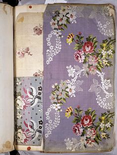 1763-4, Lyons textile swatch book, V+A Museum  Where was this stuff when I was designing bedding????