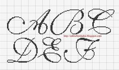 Saffron Lettering 1 charted alphabet for cross stitch or needlepoint