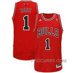 5110f99555b Derrick Rose Chicago Bulls  1 Revolution 30 Swingman Red Jersey