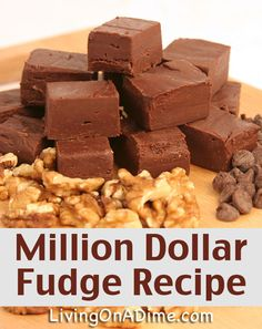 101 Homemade Fudge Recipes: {Assorted Flavors} OHHH I just realized my Fudge Fairy is back. Candy Recipes, Sweet Recipes, Dessert Recipes, Million Dollar Fudge Recipe, Best Fudge Recipe, Hershey Fudge Recipe, Chocolate Fudge Recipes, Hershey Recipes, Homemade Chocolate