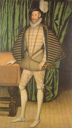 Sir Jerome Bowes by an Unknown Artist, c.1584. (The Suffolk Collection)