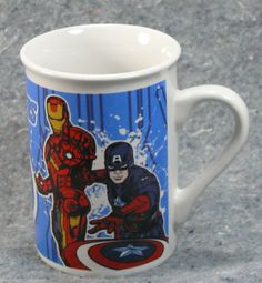 Superheroes in a mug! #Marvel #Avengers Coffee Mug Tea Cup Thor Ironman Hulk Captain America Superheroes #MarvelAvengers