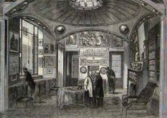Sir John Soane's Museum in Lincoln's Inn Fields, London, Illustrated London News, 1864 #museology #history