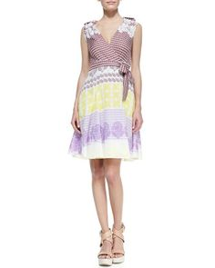 Neiman Marcus Dvf Wrap Dress Elsa Printed Wrap Dress by