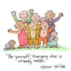 "Buddha Doodle - ""Be Yourself""by Mollycules( ( ( ♥ ) ) ) Share the DAILY LOVE of Buddha Doodles with your friends ( ( ( ♥ ) ) )"