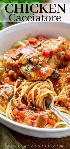Cacciatore Recipes, Best Italian Dishes, Italian Recipes, Italian Chicken Dishes, Turkey Recipes, Chicken Recipes, Baked Chicken, Boneless Chicken, Earthy