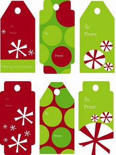 Free clip art christmas gift tags