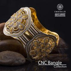 CNC Bangle Gold 22Kt 916 Hallmarked Jewellery in India.
