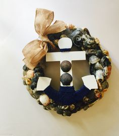 A personal favorite from my Etsy shop https://www.etsy.com/listing/386978530/seashell-wreath-nautical-decor-beach