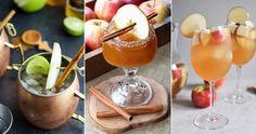 5 ljuvligt goda höstdrinkar med äppelcider   ELLE Decoration Absolut Vodka, Moscow Mule Mugs, Shake, Panna Cotta, Drinks, Tableware, Ethnic Recipes, Food, Drinking