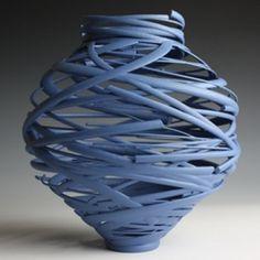 I adore this contemporary Ceramic vessel called 'Vortex'  ~ by Michael Eden