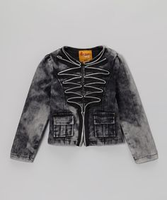 Rock'n Style Black Denim Zipper Jacket - Toddler & Girls by Rock'n Style #zulily #zulilyfinds