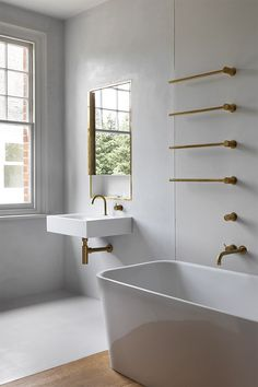 VOLA brass taps and accessories for bathroom Work | William Smalley Architect