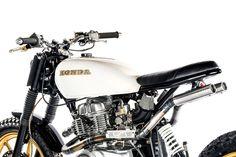 KickMoto have turned the Honda CM400 into an urban assault machine