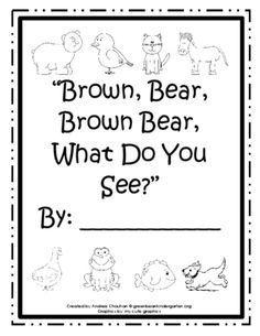 Printable Book - Brown Bear - by GBK from green bean kindergarten on TeachersNotebook.com (10 pages)