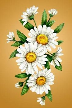 Набор для алмазной вышивки мозаикой Алмазная живопись АЖ-1251 Ромашки