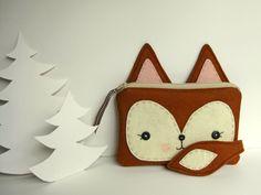 Foxy Little Pouch. via Etsy.