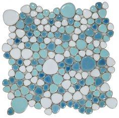 Turquoise Tile, Turquoise Bathroom, Pebble Mosaic, Mosaic Tiles, Pool Tiles, Mosaic Diy, Mermaid Tile, Mermaid Bathroom, Pool Remodel