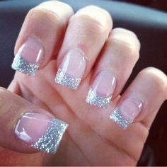 New nails gel glitter! a girl should be two things: classy a Glitter Gel Nails, Gold Nails, Pink Nails, Liquid Gel Nails, Silver Glitter, Pretty Nail Colors, Pretty Nails, Essence Nail Polish, Gel Nails French