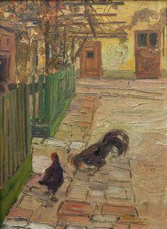 Egon Schiele, Grüner Zaun, 1907, Privatsammlung Foto: Michael Himml
